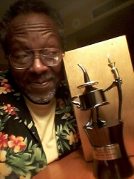 Alex Simmons, writer/speaker, consultant with his InkPot Award 7 19 17